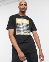 Puma Dogtooth Print T-Shirt-Black