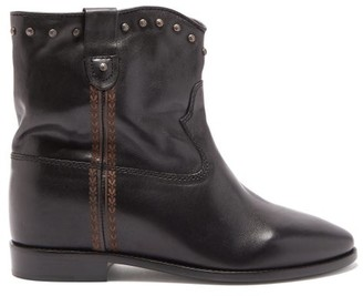 Isabel Marant Cluster Studded Leather Ankle Boots - Black