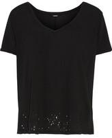 Monrow Distressed Cotton T-Shirt
