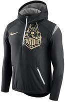 Nike Men's Purdue Boilermakers Fly-Rush Quarter-Zip Hoodie