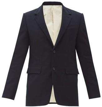Aldo Maria Camillo - Single-breasted Cotton-moleskin Jacket - Dark Blue