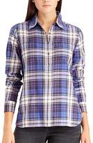 Chaps Petite Plaid Button-Down Shirt