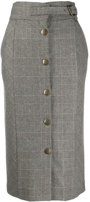 Twin-Set checked pencil skirt