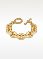 A-Z Collection Gold Plated Chain Toggle Bracelet