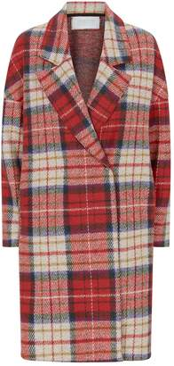 Harris Wharf London Oversized Tartan Coat