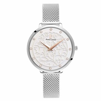 Pierre Lannier Womens Analogue Quartz Watch with Solid Stainless Steel Strap 040J608