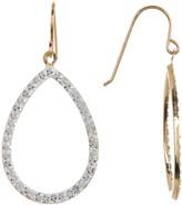 Candela 10K Yellow Gold Swarovski Crystal Teardrop Earrings