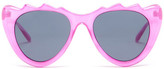 MinkPink Women&s Copy Cat Polycarbonate Frame Sunglasses