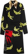 Miu Miu Python-trimmed sequined crepe dress