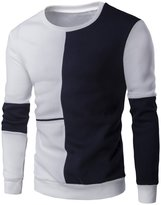 Xi Peng Men's Casual Dress Cotton Round Collar Crewneck Slim Fit Pullover Sweaters