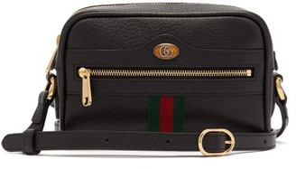 Gucci Ophidia Mini Leather Cross-body Bag - Black