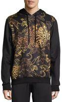 Versace Tiger Graphic Hooded Sweatshirt