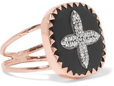 Pascale Monvoisin Bowie N°2 9-karat Rose Gold, Bakelite And Diamond Ring