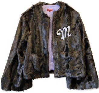 STAUD Brown Faux fur Jackets