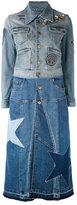Roberto Cavalli star denim jacket - women - Cotton/Spandex/Elastane - 44