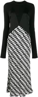 Haider Ackermann zig-zag print maxi dress