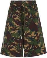 Off-White Camouflage Diagonal Print Shorts