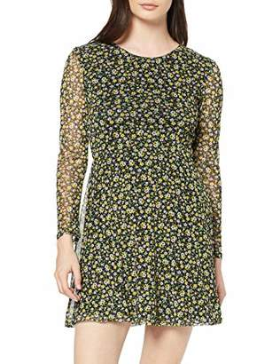 New Look Petite Women's Arya Ditsy Dress,6 (Size:6)