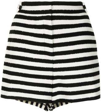 Milly Two-Tone Striped Shorts