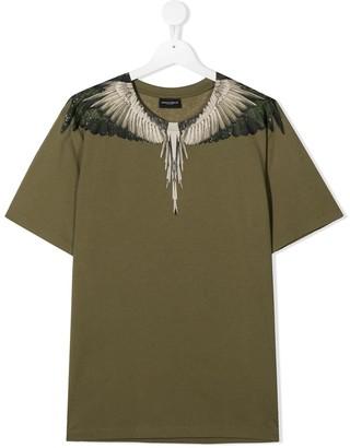 Marcelo Burlon County Of Milan Kids TEEN Wings-print cotton T-shirt
