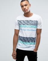 Esprit Crew Neck T-Shirt in Reverse Slub Stripe