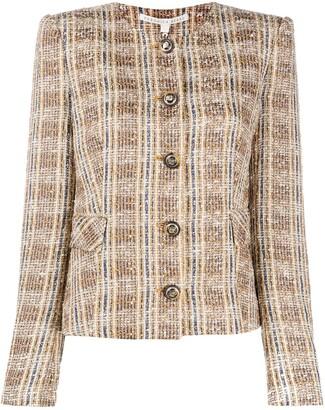 Veronica Beard Louisa check tweed jacket
