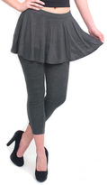Magid Dark Gray Flare Skirt Leggings - Plus Too