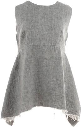 Marni Grey Linen Top for Women