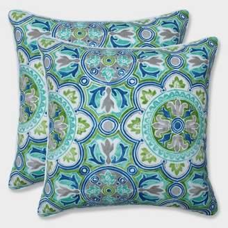 """Modern Outdoor Pillow Perfect 16.5"""" 2pk Lagoa Tile Pool Throw Pillows Blue"""