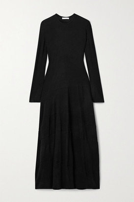 The Row Arabella Stretch-cashmere Maxi Dress - Black