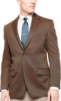 Izod Brown Basketweave Sport Coat - Classic Fit