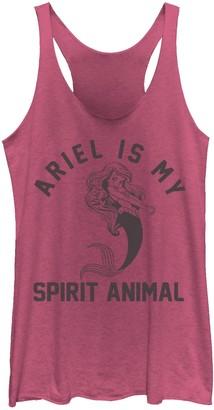 Licensed Character Juniors' Disney's Little Mermaid Ariel My Spirit Animal Tank Top