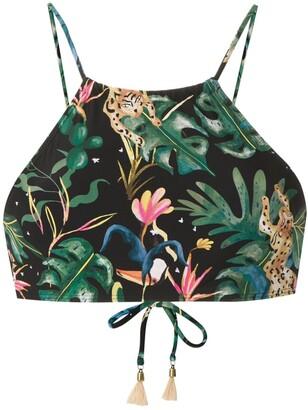Lygia & Nanny Ilana printed bikini top