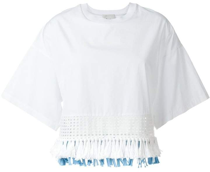 3.1 Phillip Lim cropped fringed blouse