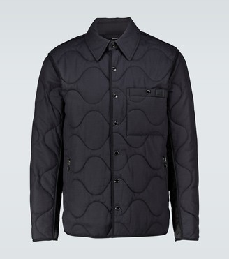 Burberry Quilted cotton-blend jacket