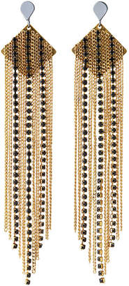 Nakamol Tiered Chain & Crystal Fringe Earrings