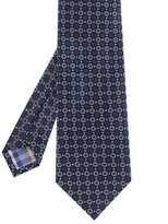 Silk Circle Print Tie
