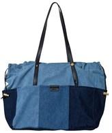 Chloé Blue Denim Patchwork Changing Bag and Mat