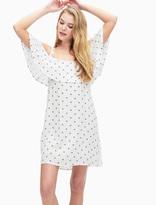 Splendid Lacy Polka Dot Cold Shoulder Dress