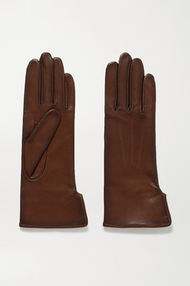 Agnelle Fanny Leather Gloves - Chocolate