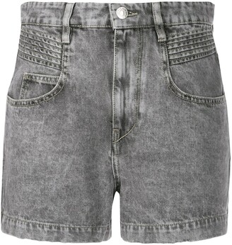 Etoile Isabel Marant Denim Acid Wash Shorts