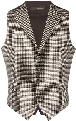 Tagliatore Houndstooth Patterned Waistcoat