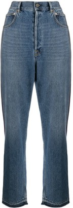 Golden Goose Side-Stripe Straight-Leg Jeans