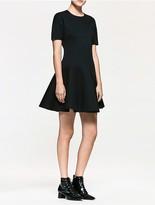 Calvin Klein Platinum Modal Flared Short Sleeve Dress