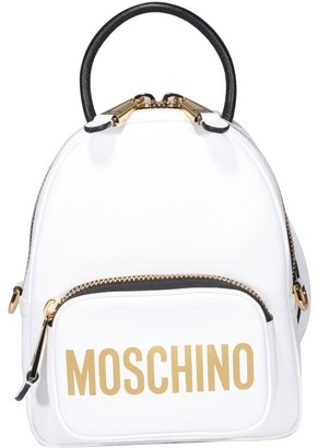 Moschino Logo Plaque Mini Backpack