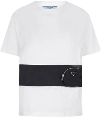Prada Panelled Pouch T-Shirt