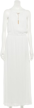 Nina Leonard Women's Gauze Halter Maxi Dress