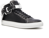 Buscemi 100MM Paint Edge Leather Sneakers