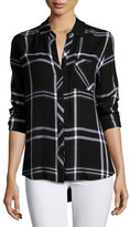 Rails Hunter Plaid Long-Sleeve Shirt, Jet/White