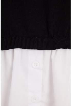 Quiz Knit Round Neck Shirt Jumper - Black